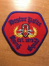 PATCH POLICE BOSTON BOMB SQUAD MASSACHUSETTS MA