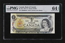 1973 Canada Bank of Canada BC-46a 1 Dollar PMG 64 EPQ Choice UNC