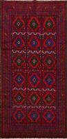 Excellent Geometric Traditional Abadeh Area Rug Hand-knotted Oriental 5x9 Carpet