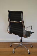 * Vitra Eames Alu Chair EA119 Bürostuhl Leder schwarz Sonderausführung TOP *