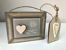 'Feathers will appear when angels are near' Mini Wooden Sign by East of India