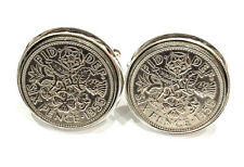 1958 61st Birthday Luxury Silver Sixpence Coin Cufflinks Boxed