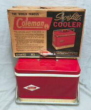Vintage Coleman Snowlite Diamond Red Logo Cooler with Box