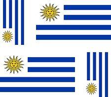 Set of 4x sticker vinyl car bumper decal outdoor car moto world flag uruguay