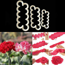 Baking Carnation Flowers Cake Fondant Sugarcraft Mold Cutter Gum Paste Decor