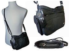 Ladies Leather Handbag Black Cow Hide Small Cross Body Shoulder Hand Bags QL743