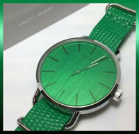 Beautiful Green Calvin Klein Designer Swiss Quartz Watch & Bonus Luggage Tags