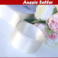 Ivory/ Cream SATIN CAR RIBBON 50mm x 23Meters WEDDING DOUBLE FACED High Quality