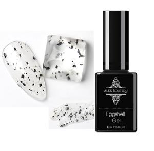 Eggshell Gel UV Nail Gel Polish Egg Effect Varnish With Black dots