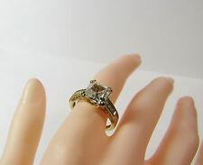 qvc 14kt 14k yellow gold diamonique princess cubic zirconia cz stone ring - Qvc Wedding Rings