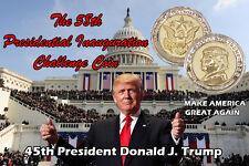 Donald Trump Coin COMMEMORATIVE INAUGURATION 2017 in 24K GOLD/925 Silver Plated