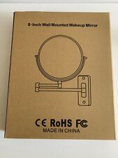CE RoHS Wall Mounted Makeup Mirror 8 Inches Swing Arm Silver Chrome Finish
