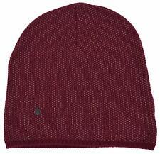 New Gucci 352350 Men's Burgundy Beige Wool Cashmere Beanie Ski Winter Hat XL