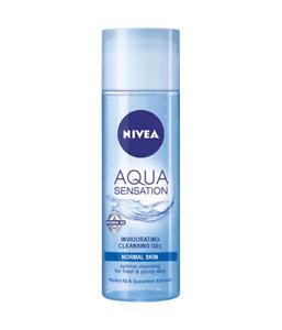 Nivea Cleansing Gel Aqua Sensation Visage For Normal Mixed Skin Hydration 200 ml