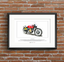 MATCHLESS G50 limited edition FINE ART PRINT A3 TAILLE