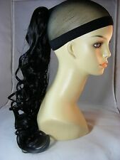 """Hairpiece Ponytai #1Black Clip-On by Mona Lisa 20"""" Synthetic Hair"""
