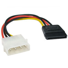 SATA to Molex 15cm  Power Adaptor Cable 4 pin 15 pin HDD Hard Drive cd rom ssd