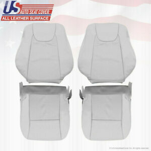 Driver Passenger Perforated Leather Covers GRAY For 2010 to 2014 Lexus RX350 450