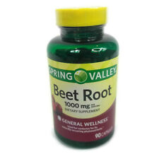 Spring Valley Beet Root 1000 mg Dietary Supplement. 90 Capsules Free Shipping