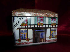Le Sable De L'Abbaye Specialite Normandie Frnce HOUSE SHAPE TIN Food Advertising