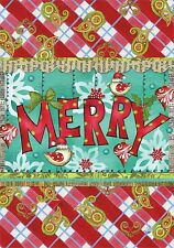 Merry - Mini Garden Flag - Brand New 12x18 Christmas 0094
