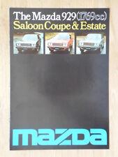 MAZDA 929 SALOON COUPE ESTATE orig 1976 UK Mkt Sales Brochure