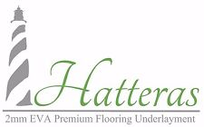 HATTERAS Black Laminate Flooring Underlayment 2MM EVA High Density Foam - 100 sf