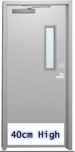 EXTRA LARGE 40cm HIGH WHITE ALUMINIUM DOOR KICK PLATE WITH SCREW HOLES