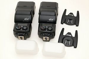 2 Nissin i60a compact flash light for M43 Olympus Panasonic