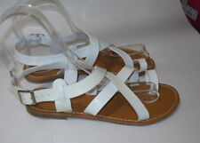 Summer White Womens Shoes Roman Gladiator Sexy Sandals Size 7.5