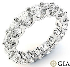 16 x 0.35-.36 ct D-E Gia sz 8 6.1 ct Round Diamond Eternity Ring Platinum U Band