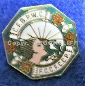 C.F.B.P.W.C., CANADIAN FEDERATION OF BUSINESS PROFESSIONAL WOMENS CLUBS BADGE