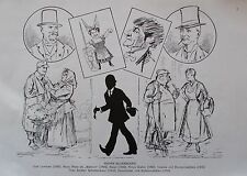 Zasche WIENER BILDERBOGEN LAMEZAN NIESE BLASEL DREHER SELBSTKARIKATUR um 1924