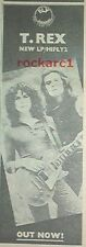 T REX Fly album 1970 UK Poster size Press ADVERT 16x6 inches