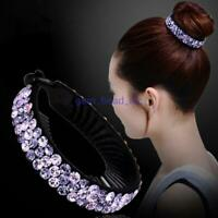 Women Fashion Hair Clip Crystal Claw Ponytail Bun Holder Hair Comb Hairpin Gift