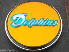 Miami Dolphins Chrome Acrylic Laser Cut Trailer Hitch Cover Mirrored Finish