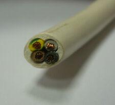 Cable H03VV-F 4-wire 4 hilos 4G0,75mm2 Cable para lámparas blanco 0,75qmm