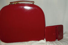 Estee Lauder Large Makeup Train Case Trunk Red Patent  New
