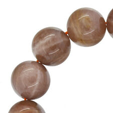 """14 Sunstone Round Beads 14mm 7.8"""" #74191"""
