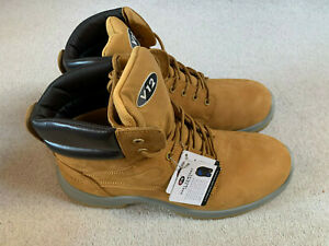 V12 Bobcat men's safety work boots   yellow   size 11   new