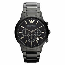 Armani Classic AR2453 Chronograph Stainless Steel - Black Men's watch