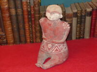 [STYLE PRE-COLOMBIEN NAYARIT - JALISCO] STATUETTE ENGOBE ROUGE ANCIENNE H 28CM