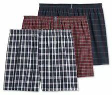 Jockey 3-Pack Men's Classic Cotton Blend Full Cut Woven Boxer Shorts Navy Tartan