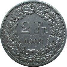 Schweiz  2 Franken 1903 B , Stehende Helvetia