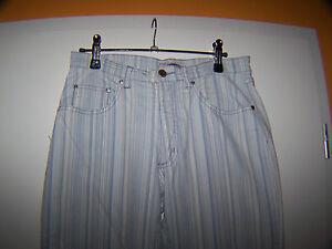 Stooker stretch Hose/Stretch Jeans ,Blau/Beige gestreift,Größe 28,ansehen!
