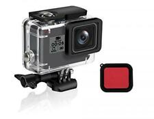 Waterproof Housing Shell GoPro Hero 7/2018/6/5 Black Diving Protect Red Filter