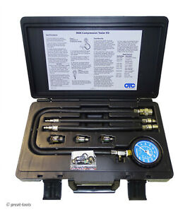 ENGINE COMPRESSION TESTER – OTC Tools – gasoline engines – gauge – adapters