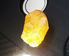 100% Natural 14.42 Ct Certified Yellow Sapphire Gemstone Rough