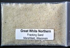 GREAT WHITE NORTHERN FRACKING SAND ~ MARSHFIELD, WISCONSIN ~ SAND sample