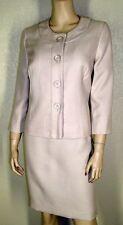 Le Suit Petites Sz 12P Beige Tweed 4 Button Jacket Blazer Skirt Suit $200 7075
